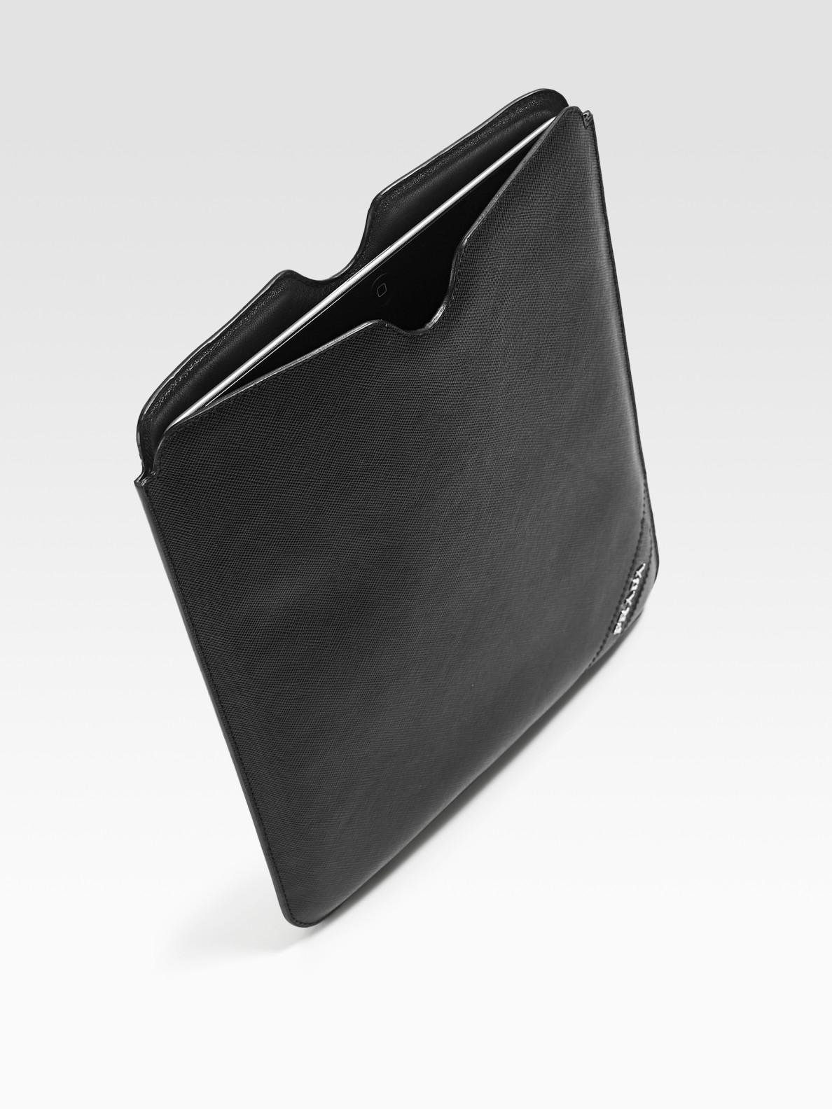 best website 492d9 4ea7f Prada Black Leather Case For Ipad for men