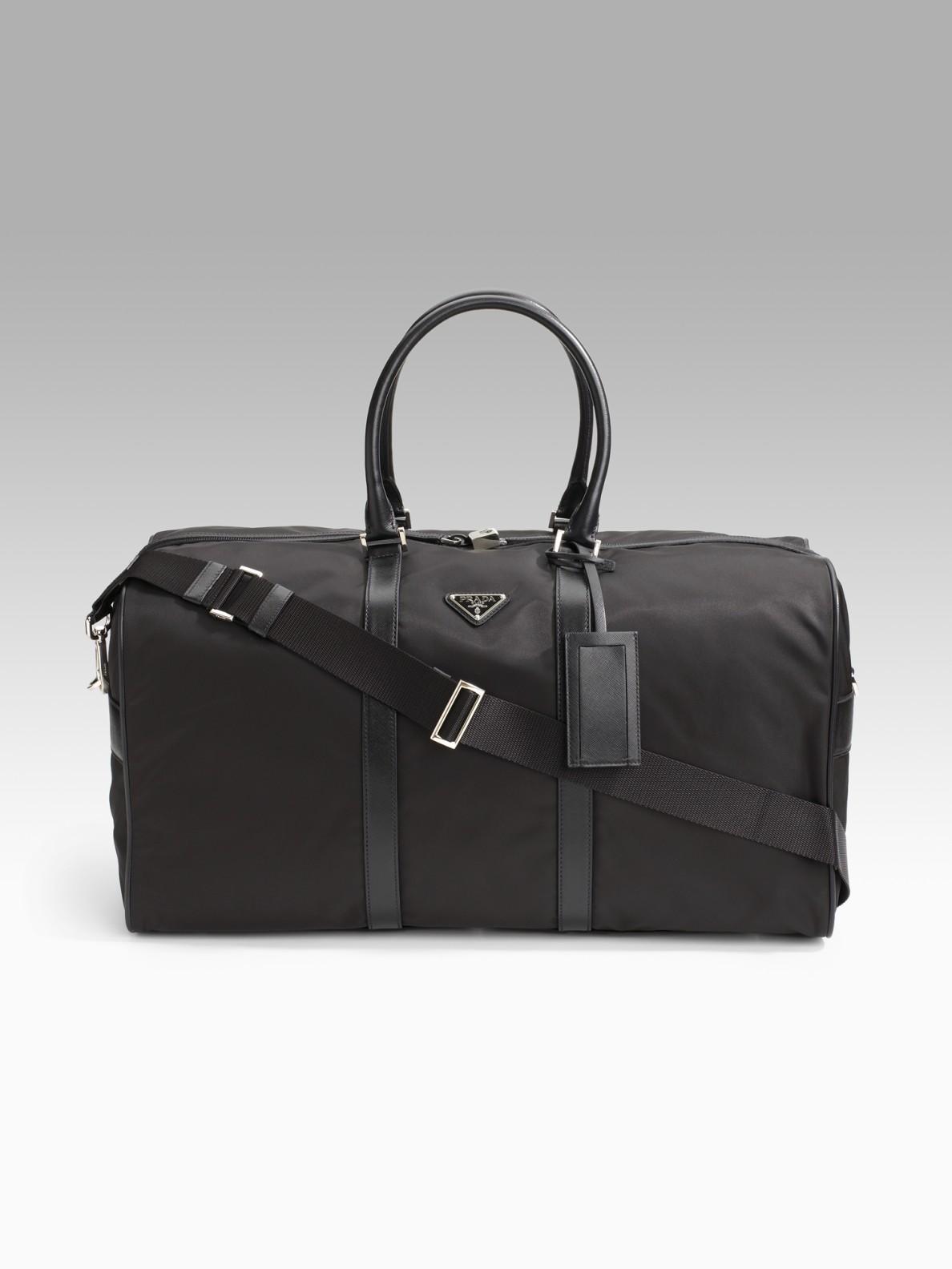 1ddc7b9eb90cba Prada Nylon Duffle Bag in Black for Men - Lyst