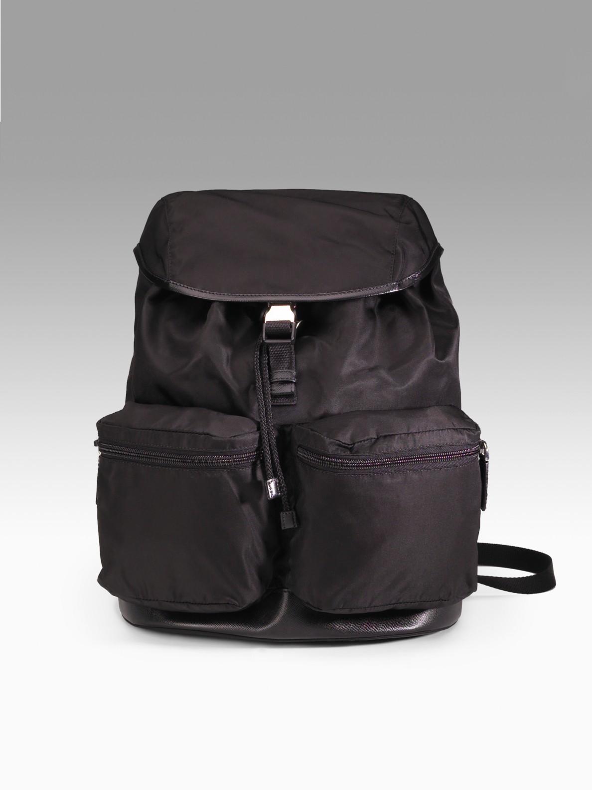 Prada Backpack in Black for Men (nero) | Lyst