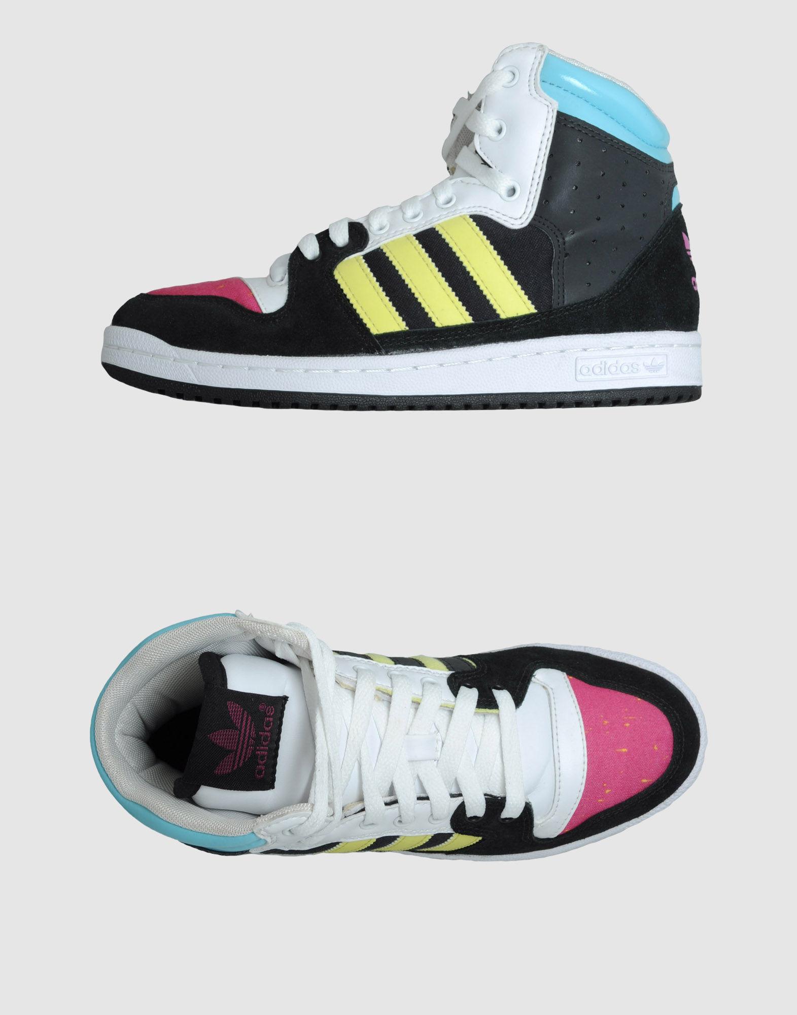 adidas high top sneakers in black lyst