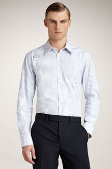 Alexander McQueen Striped Harness Shirt, Light Blue - Lyst