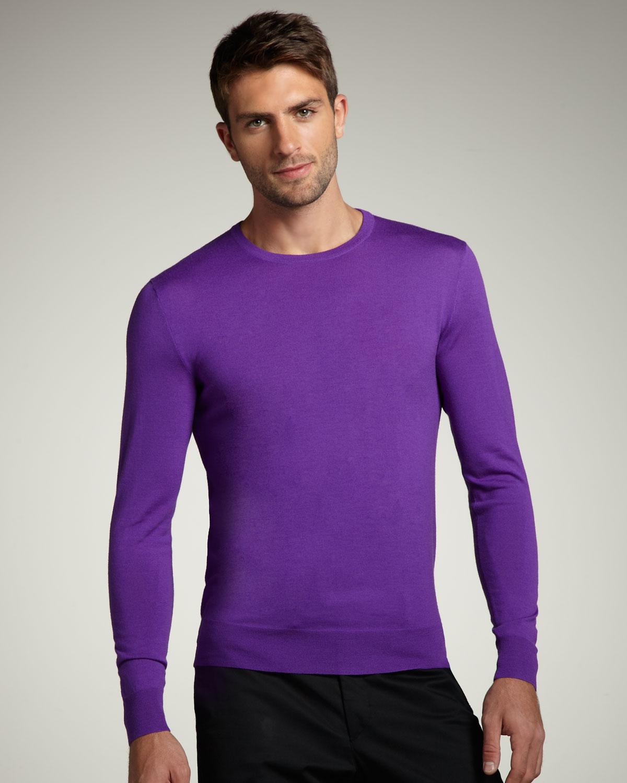 Ralph lauren black label Crewneck Merino Sweater, Purple in Purple ...