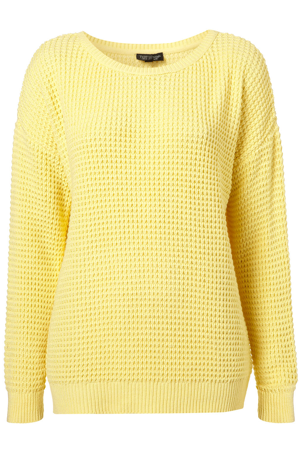 Jumper in a soft knit with a slightly wider neckline and long sleeves. Ribbing around the neckline, cuffs and hem.