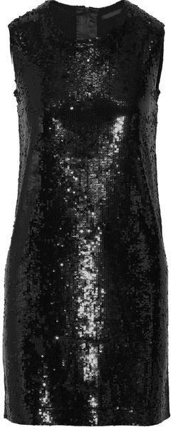 Donna Karan New York Sequined Cashmere and Silk-blend Dress - Lyst