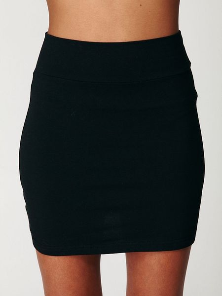 Free People Stretch Bodycon Mini Skirt In Black Lyst