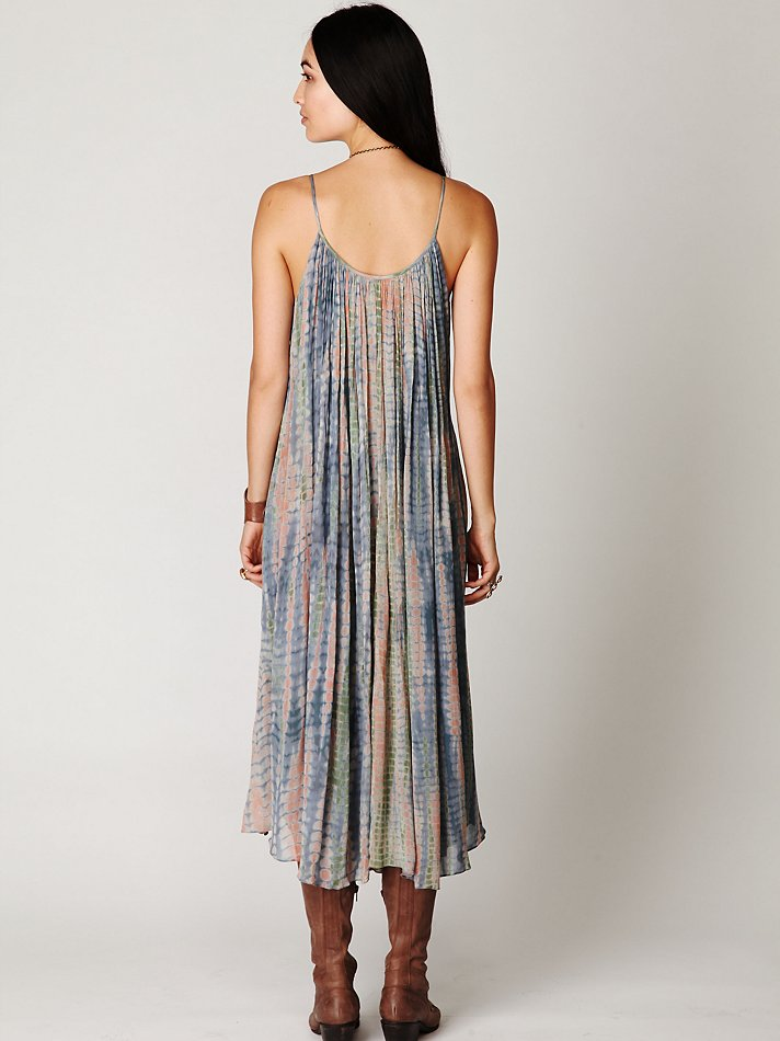 Free People Gale Printed Shapeless Dress Lyst