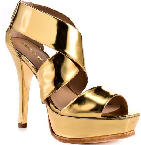 Pour La Victoire Tifara  Gold Mirrored in Gold