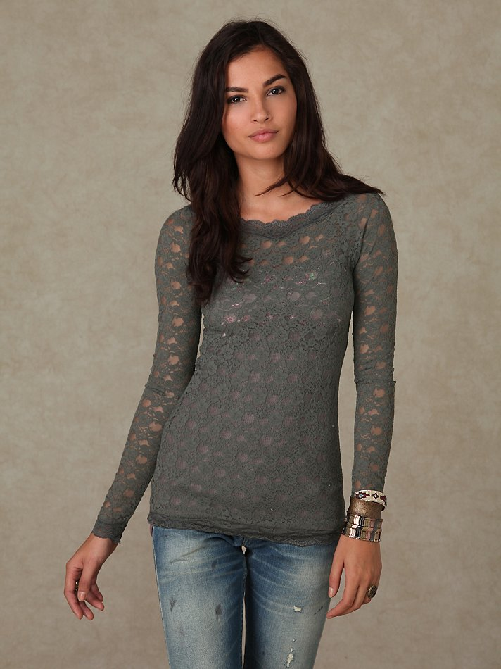 Lyst - Free People Scandalous Lace Top in Natural e47467711