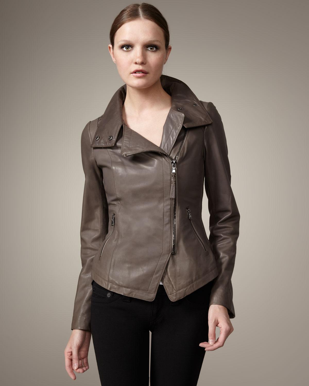 Mackage Anik Leather Jacket in Brown | Lyst