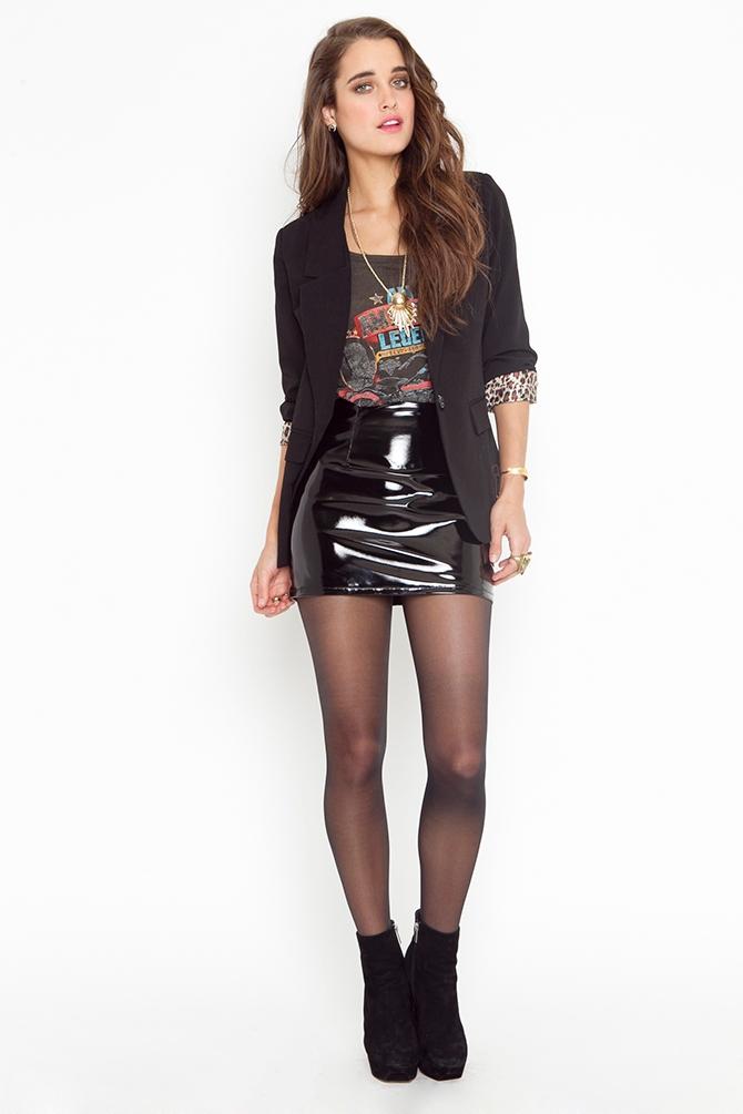 Lyst Nasty Gal Vinyl Moto Skirt In Black