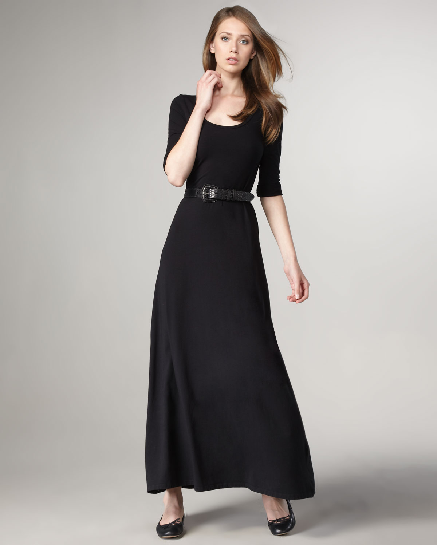 7fccec91e18 Lyst - Splendid Scoop-neck Maxi Dress in Black