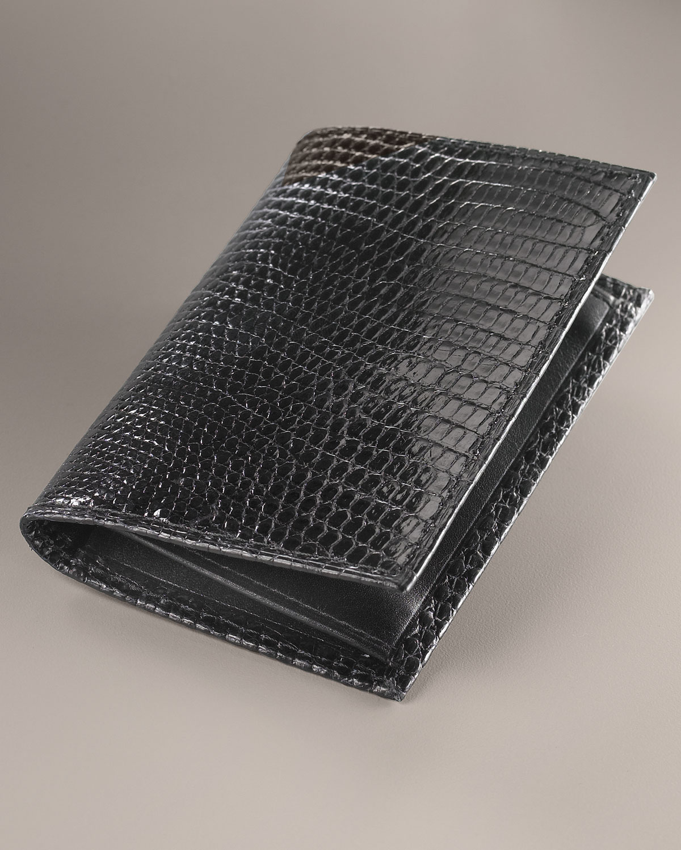 a5a99f07c658 Lyst - Neiman Marcus Lizard Business Card Case in Black for Men