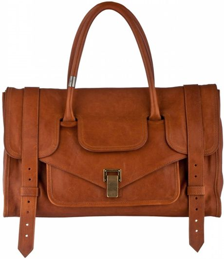 Proenza Schouler Ps1 Keep All Small Leather in Brown (saddle) - Lyst