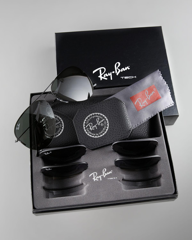 Ray Ban Light Ray Aviator Sunglasses In Black Lyst