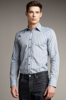 Alexander McQueen Striped Harness Shirt - Lyst