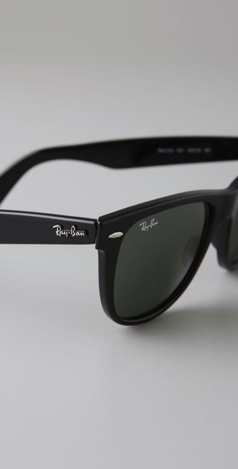 Ray Ban Outsiders Oversized Wayfarer Sunglasses In Black