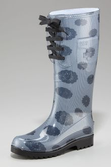 See By Chloé Lace-up Rain Boot - Lyst