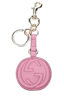 Gucci Leather Key Ring - Lyst