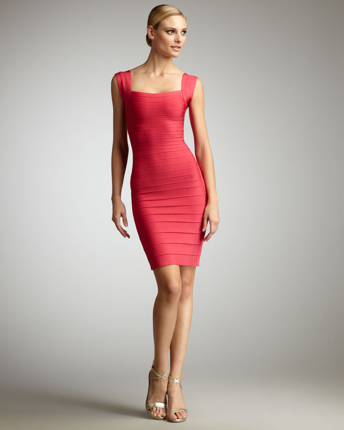 Satin bandage dress