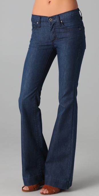 James jeans Humphrey High Rise Flare Jeans in Blue | Lyst