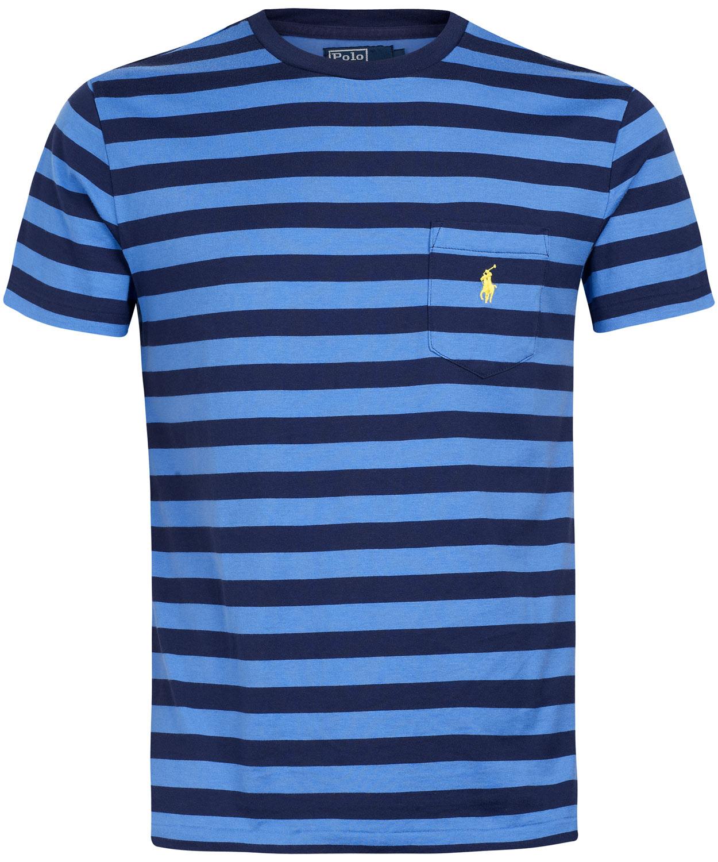 f84037f7b73 Polo Ralph Lauren Blue Stripe Pocket T-shirt in Blue for Men - Lyst