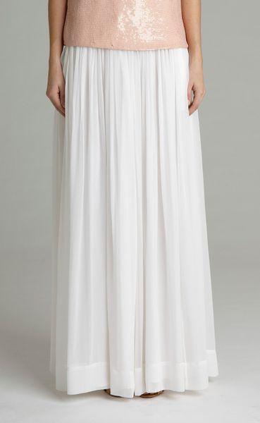 adam lippes chiffon maxi skirt in white lyst