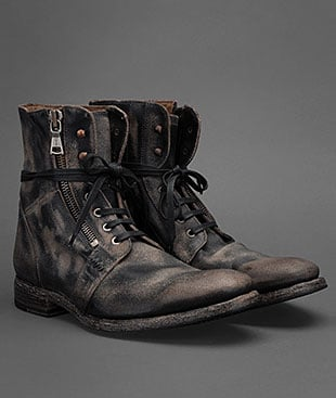 John Varvatos Ago Side Zip Boot In Black For Men Lyst