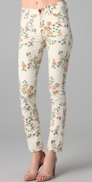 Citizens Of Humanity Mandly Floral Roll Up Jeans in Floral (natural)