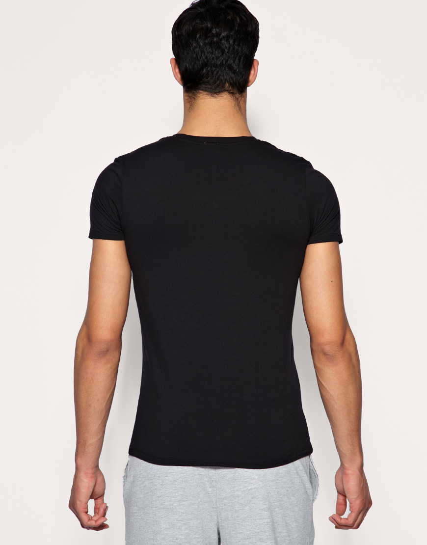 DIESEL V Neck T Shirt in Black for Men - Lyst
