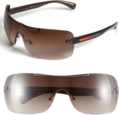 018980e750d Prada Rimless Shield Sunglasses - Bitterroot Public Library