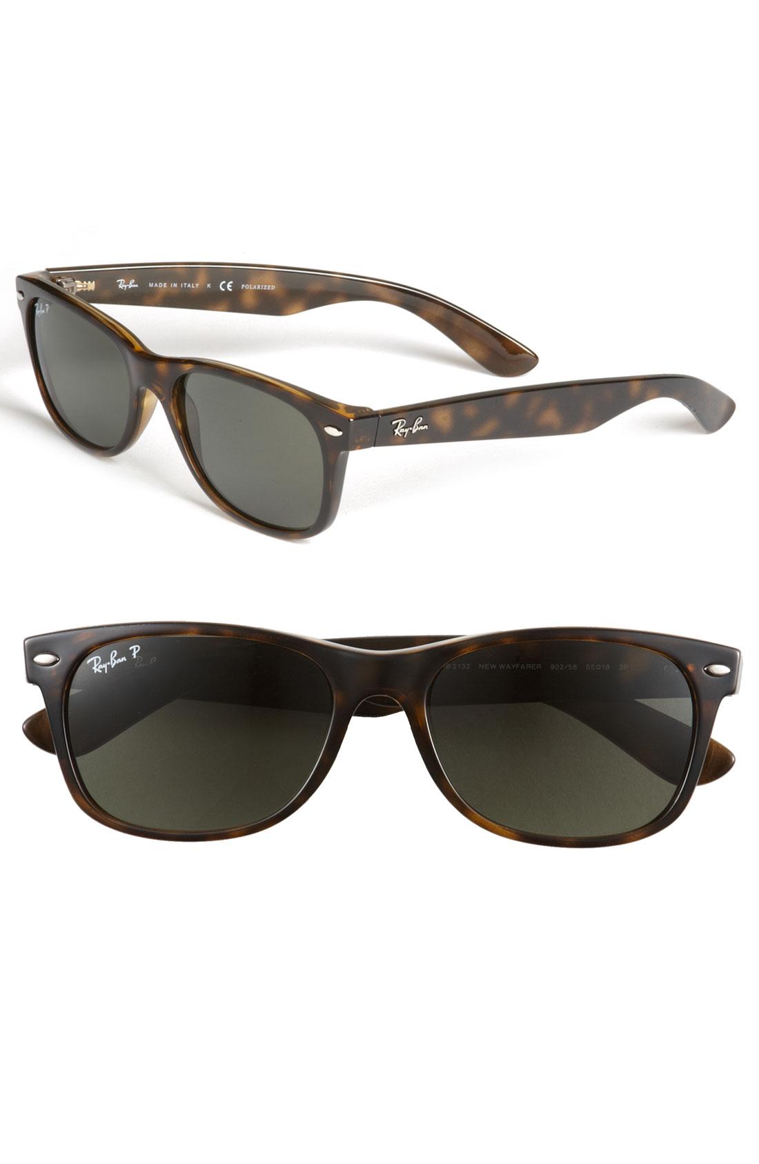 Ray-ban 'new Wayfarer' 55mm Sunglasses in Brown for Men | Lyst