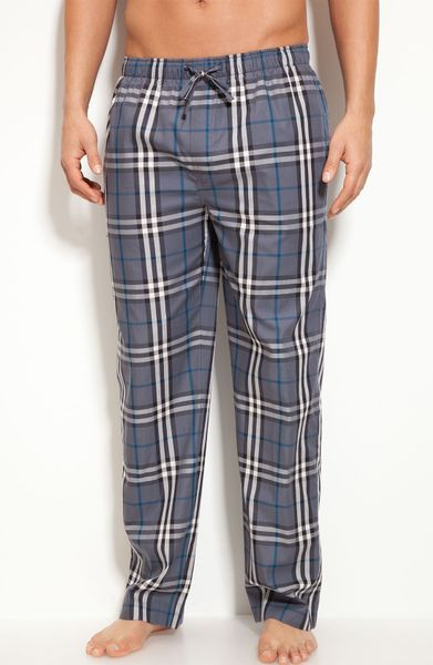 Burberry Checkprint Pajama Pants in Natural for Men   Lyst