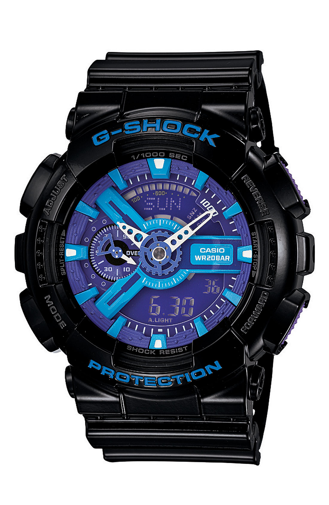 Casio g shock x large big combi watch in blue for men blue black lyst for Watches g shock