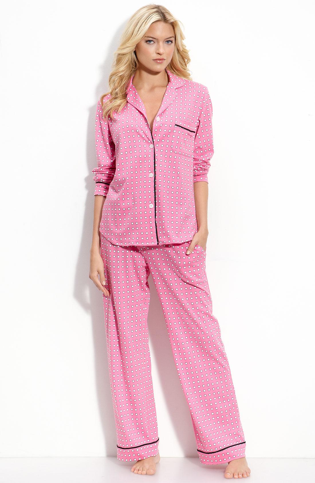 Dkny Print Knit Pajama Set In Pink Pink Sorbet Dot Lyst