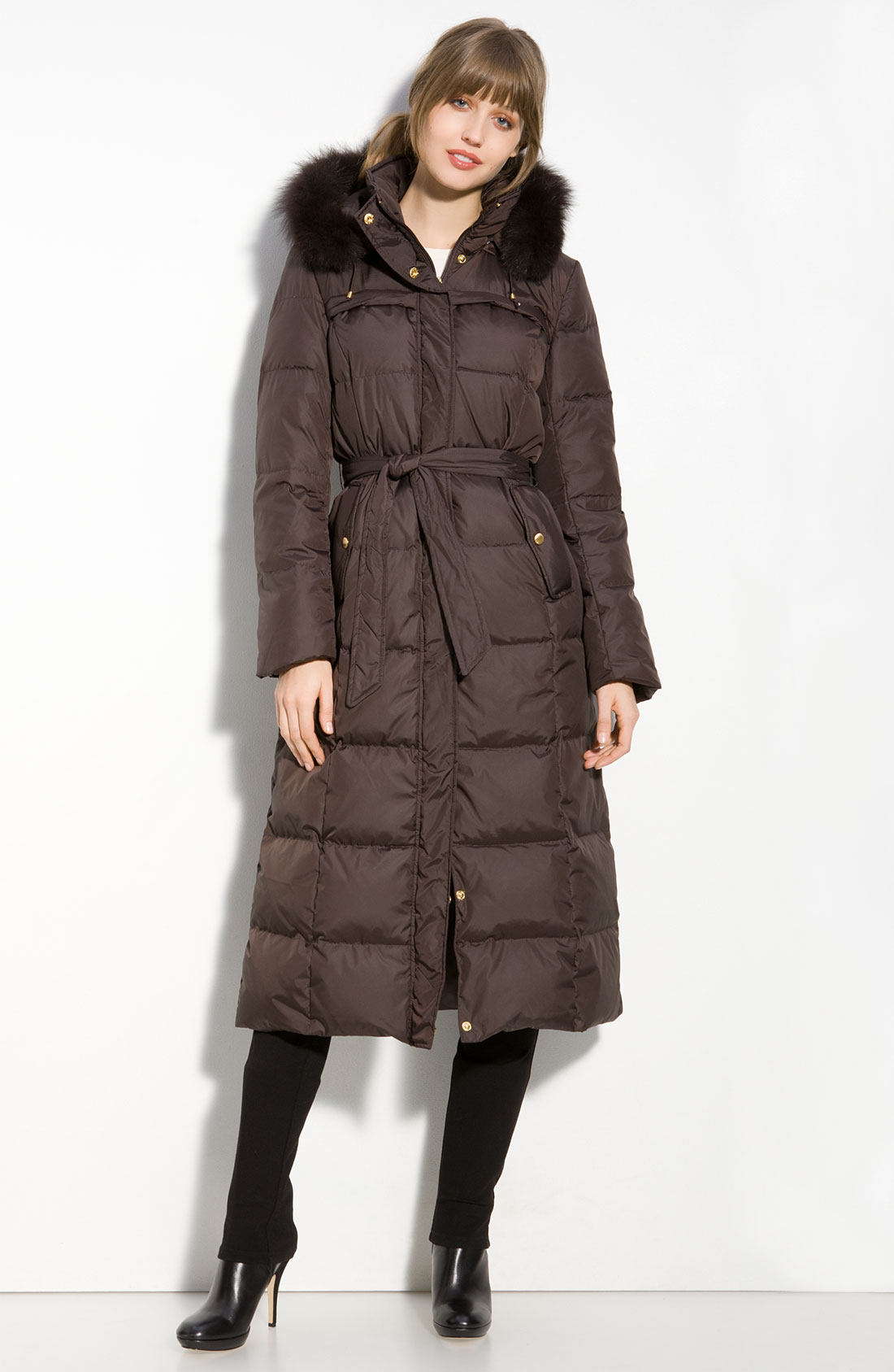 Brown Quilted Coat Coat Nj