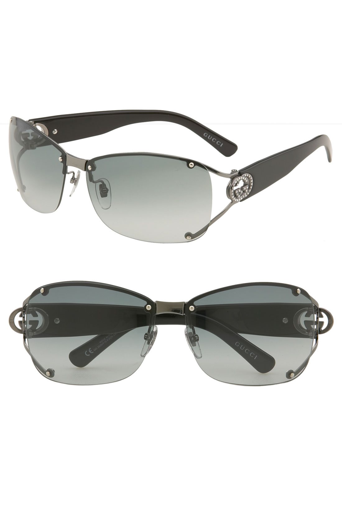 0868a88e145 Gucci Open Temple Rimless Shield Sunglasses – McAllister Technical ...