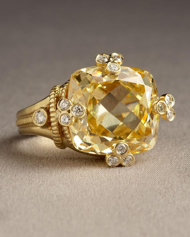 01b7d1264e1f4 Judith Ripka Metallic Canary Olivia Ring