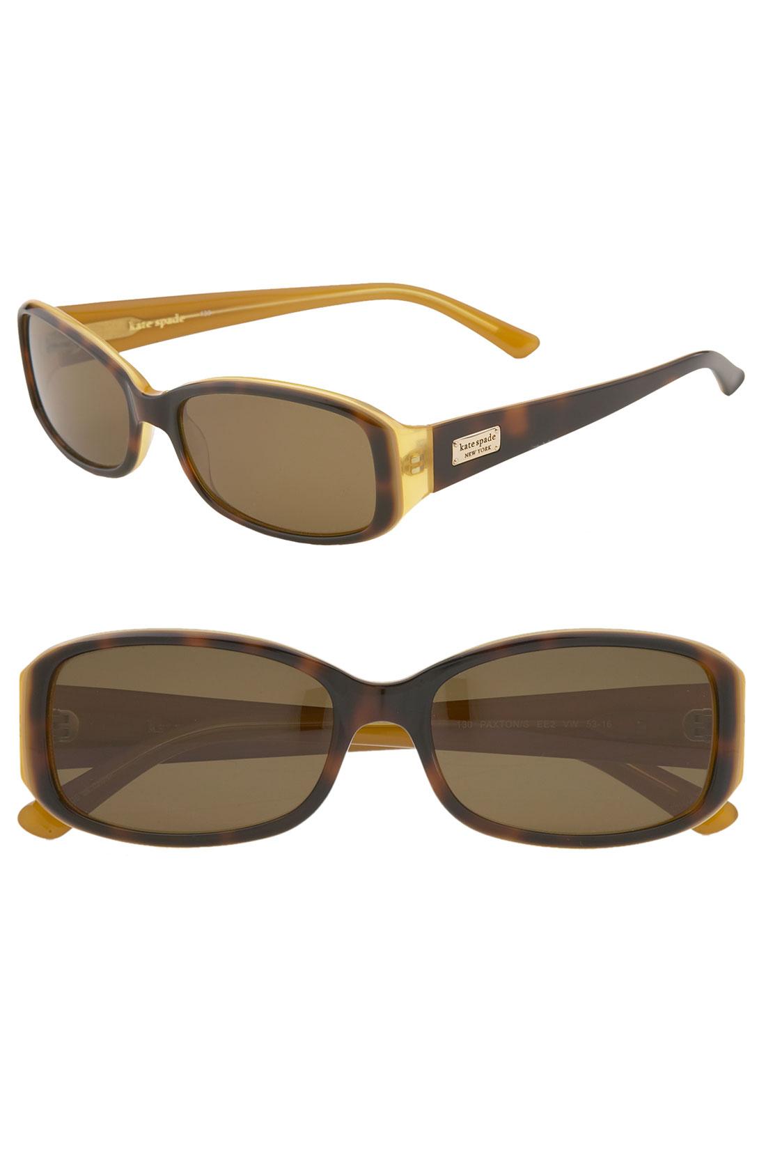 2f7974d9a9 Kate Spade Paxton Polarized Sunglasses in Brown (tortoise saffron polarized)
