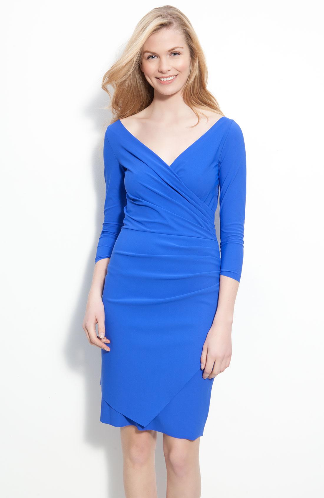 la petite robe di chiara boni calantine dress in blue cobalt lyst. Black Bedroom Furniture Sets. Home Design Ideas