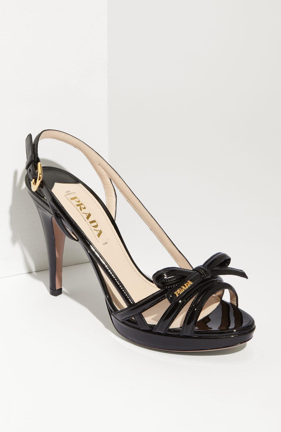 Prada Bow Platform Sandals get authentic cheap price QV1tCUW6by