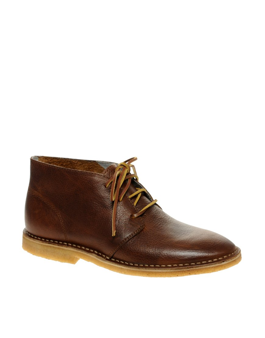 seavees 3 eye chukka boots in brown for lyst