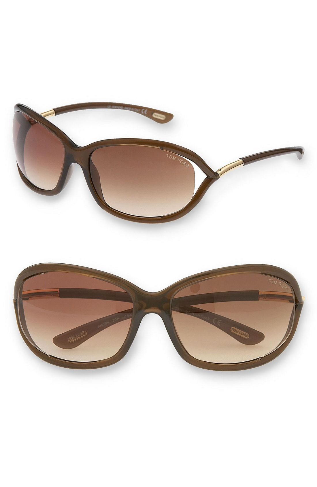 tom ford jennifer oval frame sunglasses in brown dark brown lyst. Cars Review. Best American Auto & Cars Review