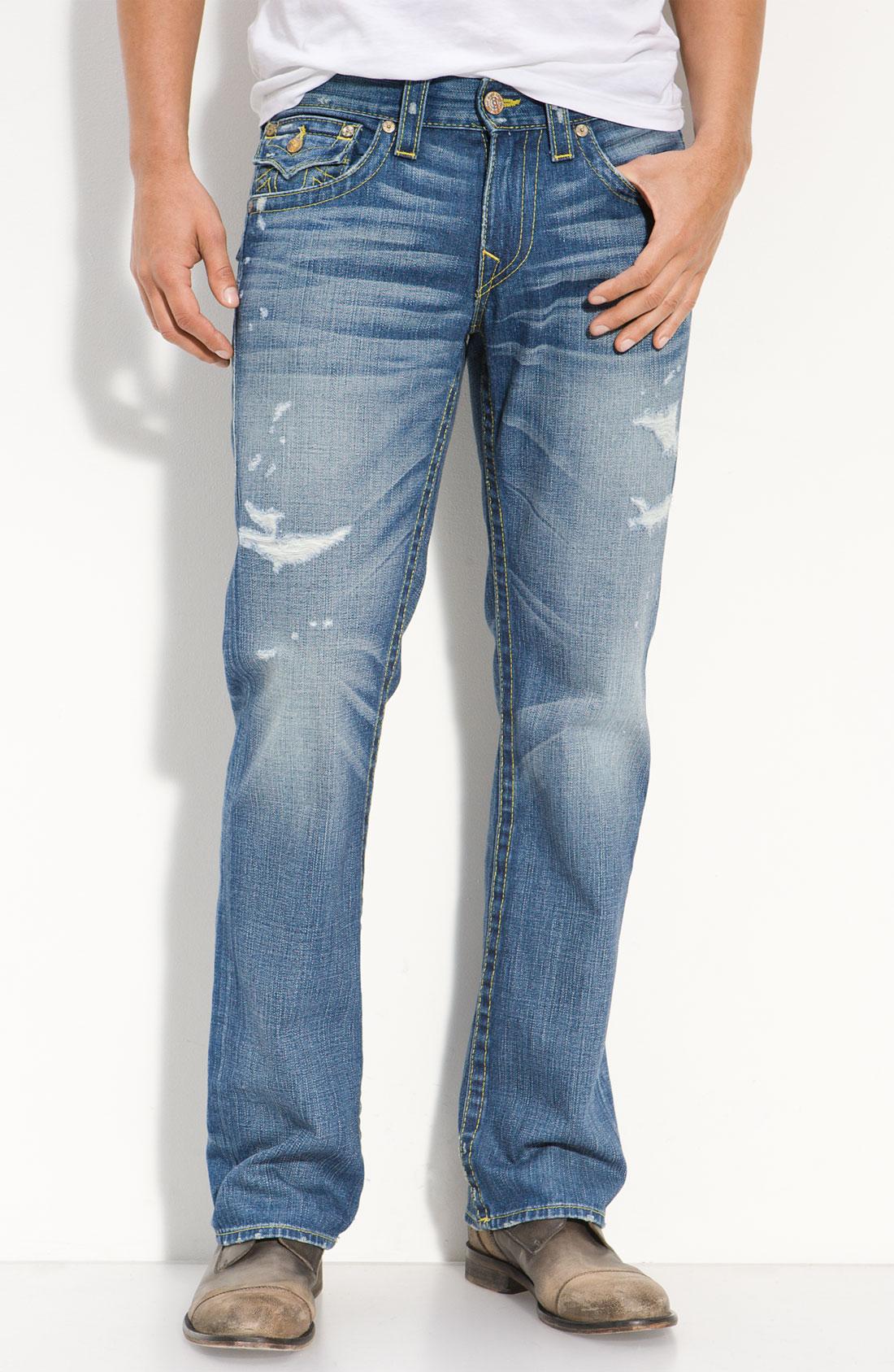 true religion ricky vintage jeans in blue for men. Black Bedroom Furniture Sets. Home Design Ideas
