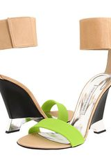 Diane Von Furstenberg Elan Leather and Rubber Wedges