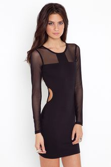 Nasty Gal Mesh Around Dress - Lyst