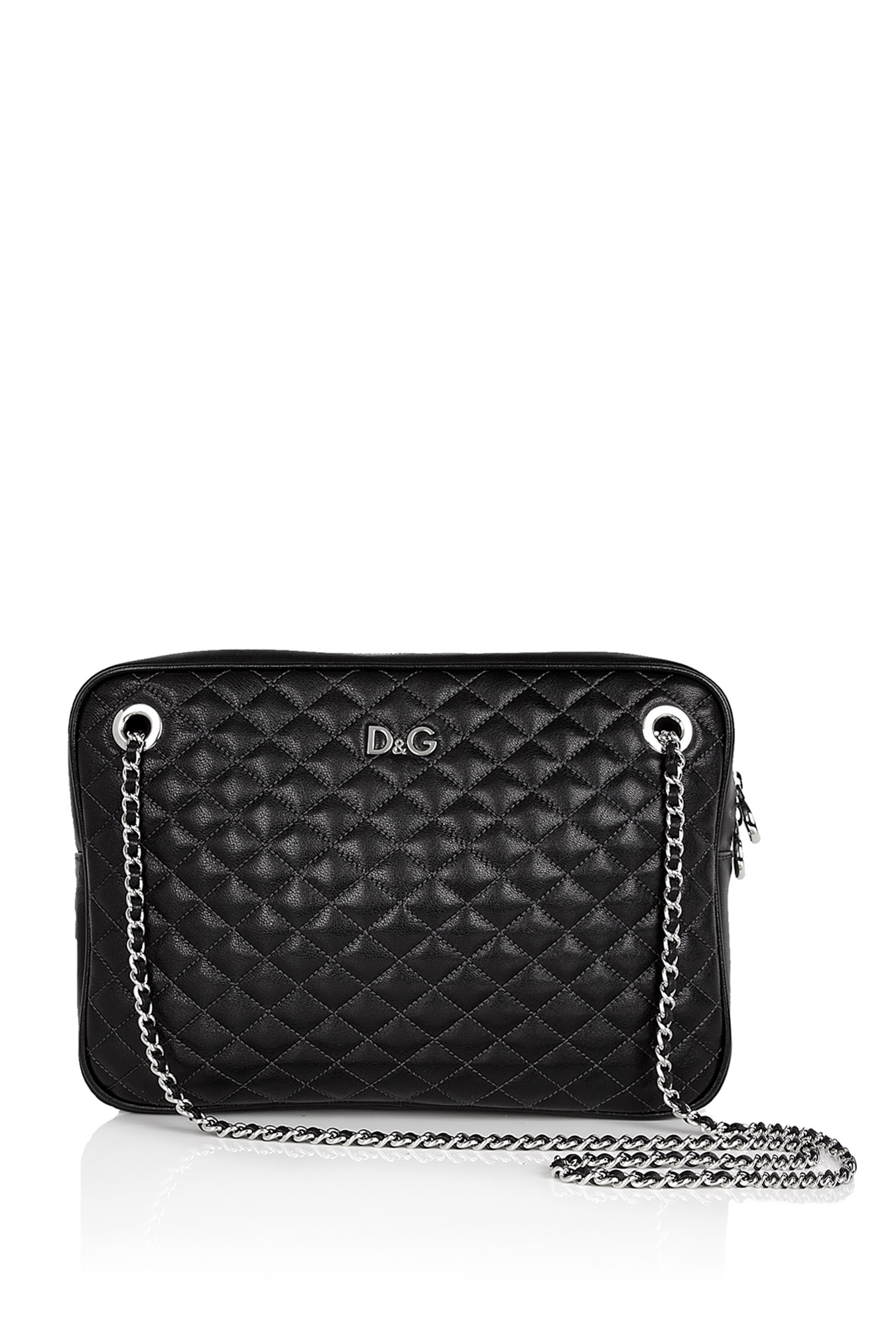 Lily Glam Zip Top Quilted Shoulder Bag 51