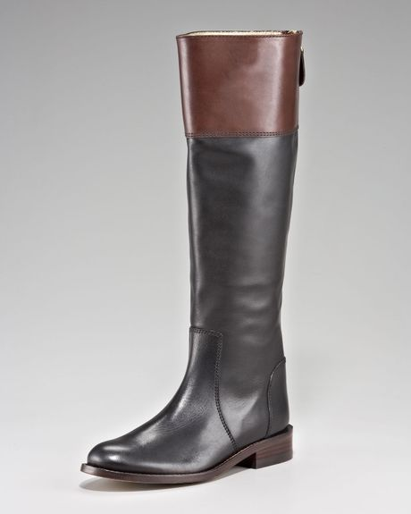 couture reston two tone boot in brown black