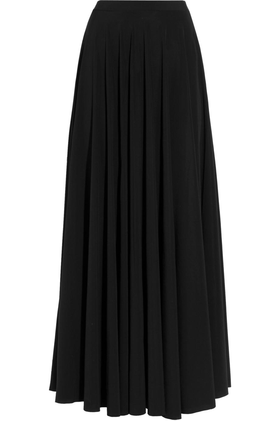 lanvin side split maxi skirt in black lyst