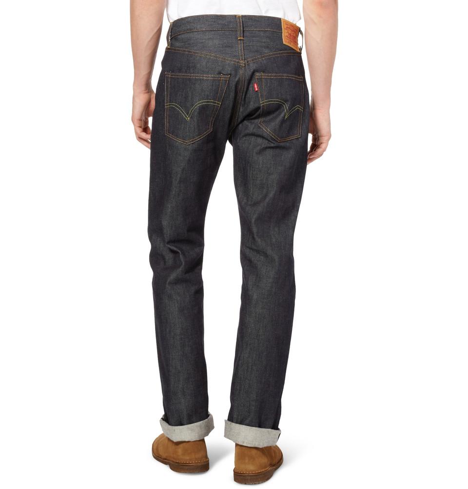 Levi's 1947 501 Shrink-to-fit Selvedge Denim Jeans in Blue for Men