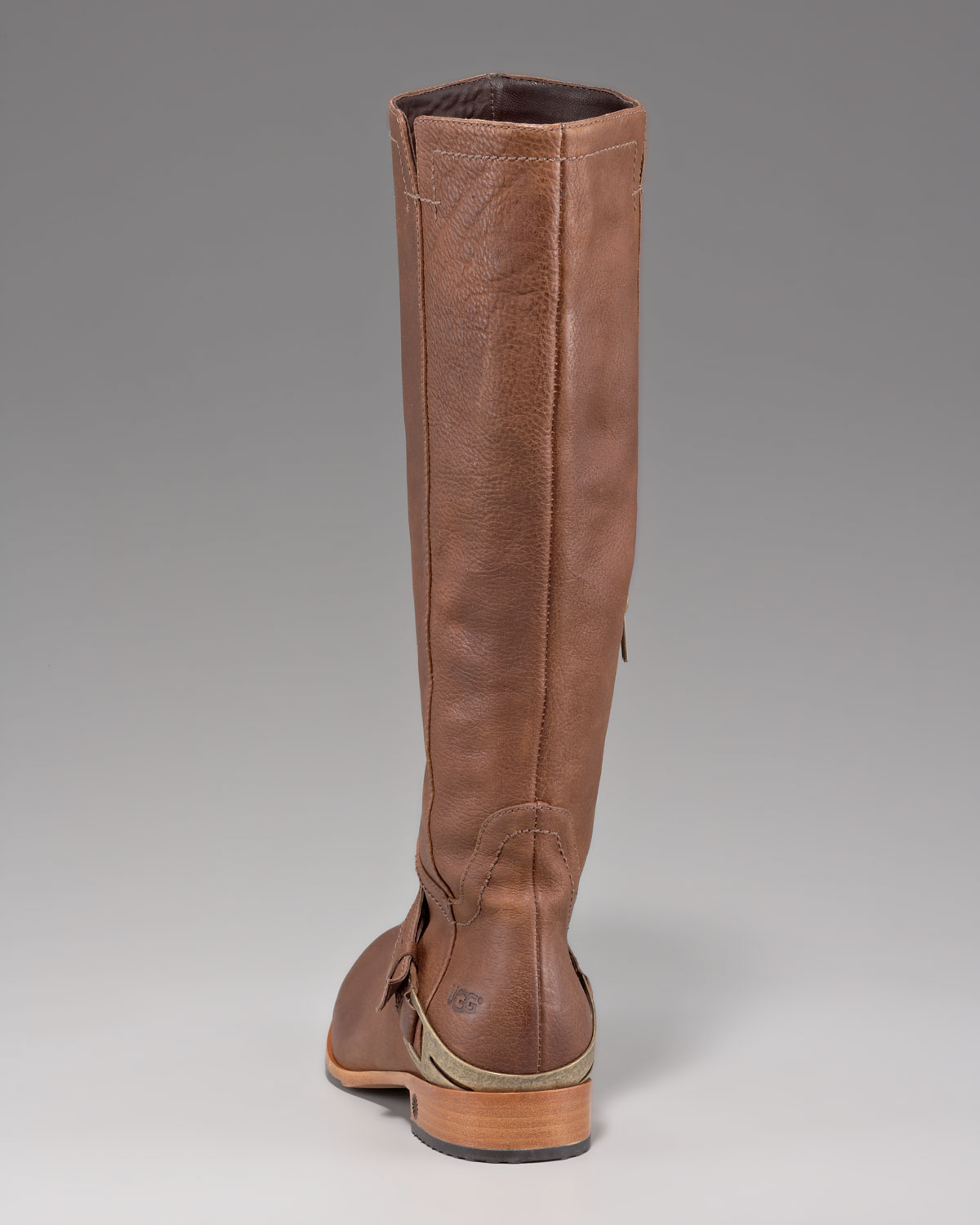 Ugg Channing Leather Riding Boot In Brown Lyst